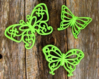 Vintage Syroco Butterflies in Spring Green