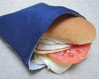 Sale !!  Reusable Sandwich Bag Navy Blue