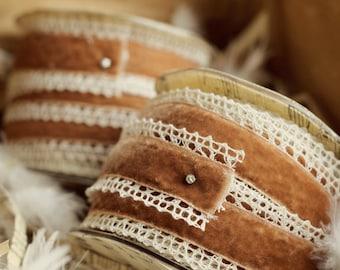 30 yard roll of velvet crochet  ribbon