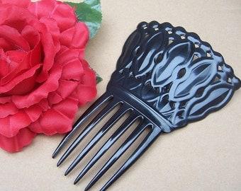 Art Deco hair comb black celluloid Spanish comb mantilla hair pin hair pick hair hair slide accessory hair jewelry hair ornament headdress