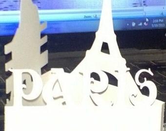 Eiffel tower Paris centerpiece