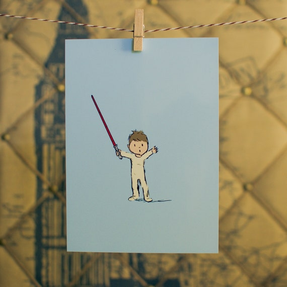 Star Wars Baby Art Digital Print 5x7 sky blue
