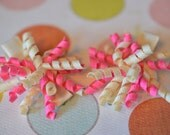 1.5 Inch Pink & Cream Mini No Slip Korker Set