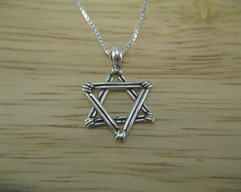 Classic Star of David Necklace, Silver Star Necklace, Sterling Silver Pendant Necklace, Jewish Star Necklace
