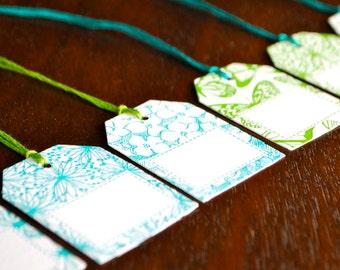 Letterpress Gift Tags - Wild Flower set of 6