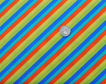SIX DOLLAR SALE - Skelanimals candy stripe in neutral  - 1 yard