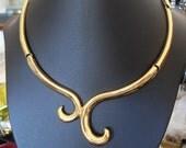 MONET Egyptian Style Goldtone Choker Necklace