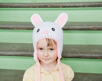 Crochet Pattern, Bunny Hat - Instant Download