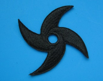 Iron-on Embroidered Patch Ninja STAR 3 inch