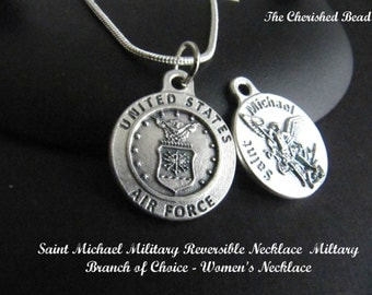 Catholic Saint Michael Reversible Military Medal with Branch of your Choice