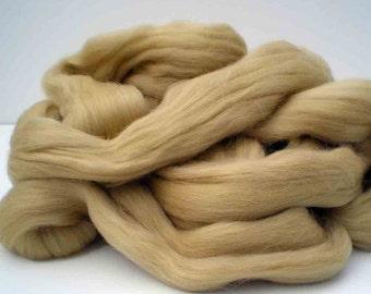 "Ashland Bay Solid Colored Merino for Spinning or Felting ""Camel""  4 oz."