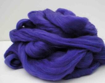 "Ashland Bay Solid Colored Merino for Spinning or Felting ""Violet""  4 oz."