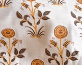 Cotton Silk Block Print Fabric: Antique - half metre