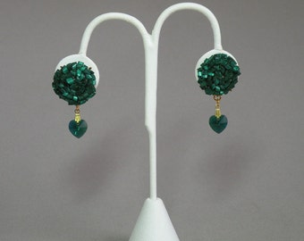 Emerald Beaded Earrings