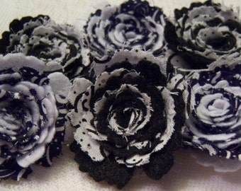 Vintage Fabric and Felt Rolled Roses