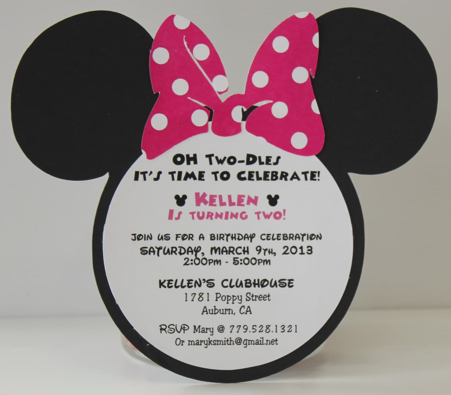 Minnie Mouse Birthday Invitations Invitation Pink Polka