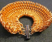 chainmaille bracelet - copper dragonscale chainmaille