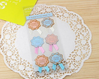 For You Sticker Set (Badge) with Ribbon - Scrapbooking Packaging Party Gift Wrap Diary Deco Collage Home Decor S030