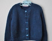 vintage blue handmade sweater