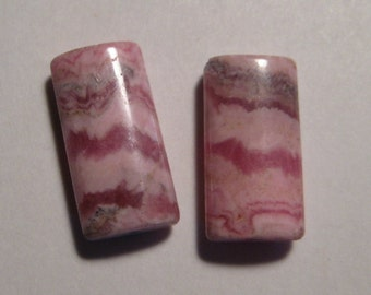 Rhodochrosite beads  ...    2 pieces ............           16 x 8 x 4 mm  ................      a967