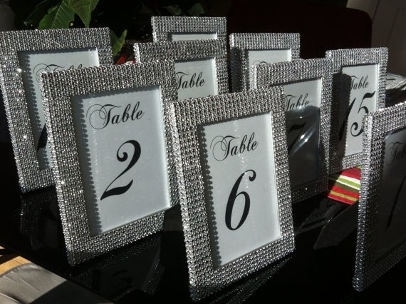 Set Of 1 5 X 7 Frames In Silver Rhinestone And 1 Table