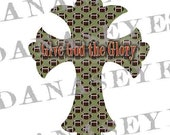 Football Christian Cross Digital Downlaod Craft Supply