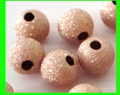 10x 6mm 14k ROSE  gold filled seamless stardust star dust sparkle round bead spacers RB16