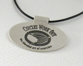 Your Logo Featured on a Fine Silver Pendant