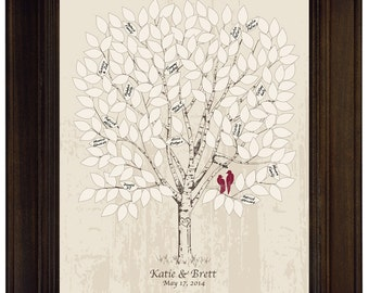 Guest Book Alternative Wedding Tree Guest book Ideas Personalized Wedding Keepsake lovebird Wedding Tree Rustic Style Wedding Vintage