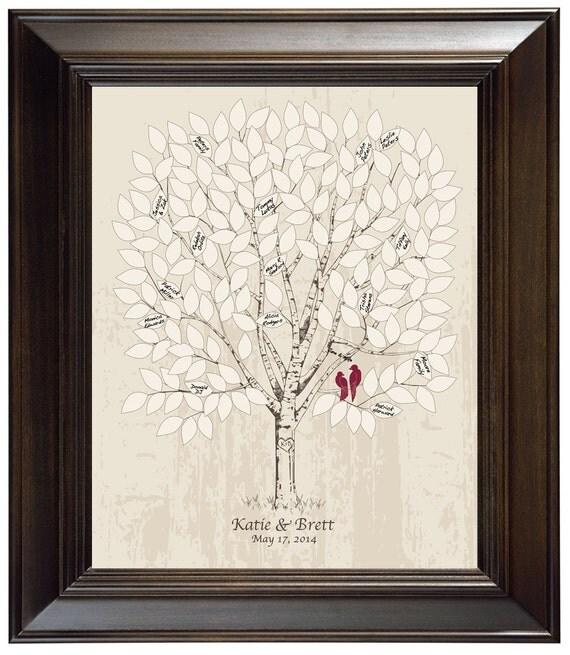 Photo Book Guest Book: Guest Book Alternative Wedding Tree Guest Book Ideas