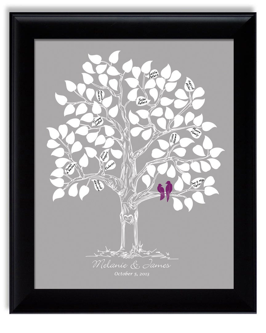 Unique Wedding Guest Book Custom Guest Book Tree Guestbook