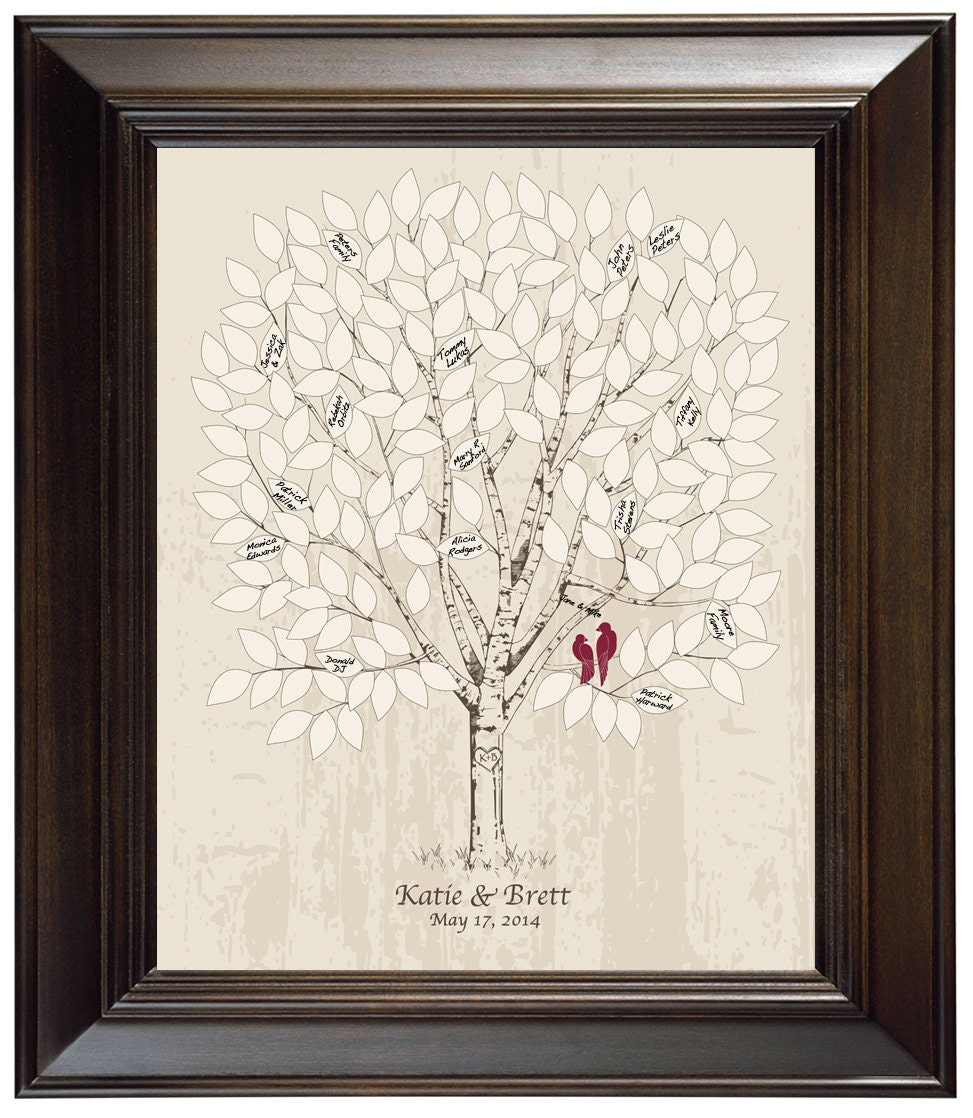 Alternative Wedding Guest Book Ideas: Guest Book Alternative Wedding Tree Guest Book Ideas