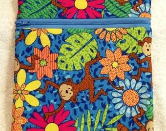 Handmade Whimsical Monkey  - Sling Bag, Cross Body Bag, Hipster, Travel Bag