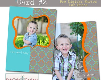 INSTANT DOWNLOAD My Hero Card 2- custom photo templates for photographers on WHCC, ProDigitalPhotos and Millers Lab Specs