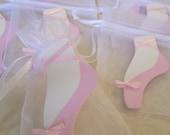 Ballerina slippers favor bags, ballerina favor bags, ballerina party, ballerina, ballerina favors, ballerina party decorations, party favors