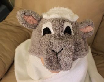 Made to Order Lamb Hooded Towel