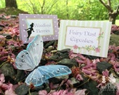 Fairy Party Custom Tent Place Cards - Garden Fairy Collection
