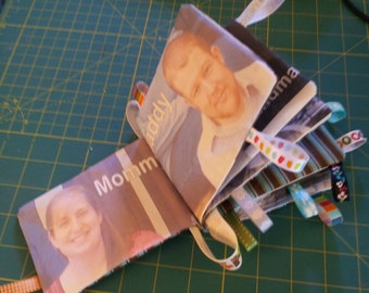 Custom Photo Soft Tag Memory Book of Family Members for Baby or Toddler