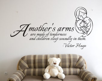 Vinyl Wall Decal Sticker Mothers Arms Quote OSDC505s