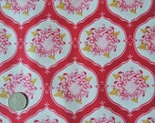 Tilda fabric FQ ....  Mum Flower Ornament in Red ....   EXTRA LARGE Fat Quarter 50 x 70cm  Buy any 4 get a surprise one Free