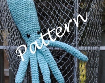 Woolie Octopus Hand Crocheted Plush PDF Pattern