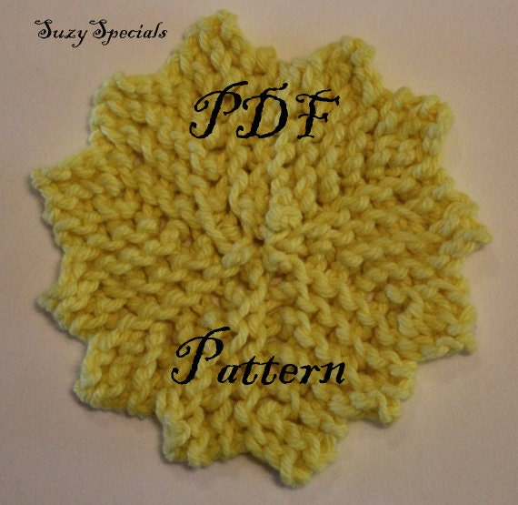 Knitted Reusable Makeup Remover Pads/ Face Scrubbies/ WashCloths Pattern PDF