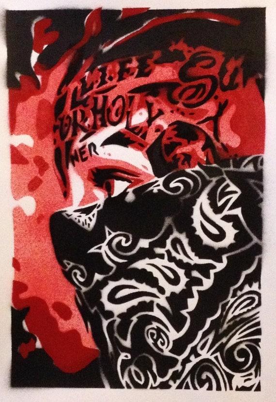 Gangster Skull With Red Bandana   www.pixshark.com ...