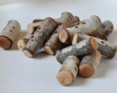 wood buttons . . . set of 15 BIRCH wooden buttons . . .  toggle buttons
