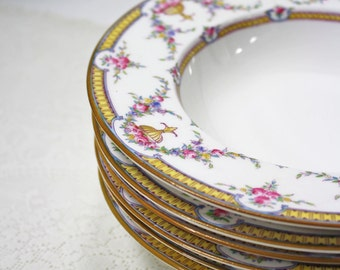 Vintage Royal Worcester Rosemary Rimmed Soup Bowl Set of 6