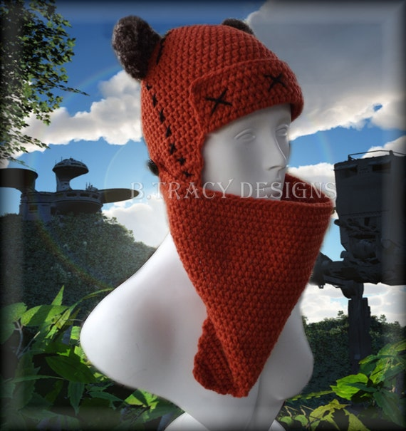 Free Crochet Hat Patterns Star Wars : Star Wars Inspired Crochet Ewok of Endor by BrandyNicoleHats