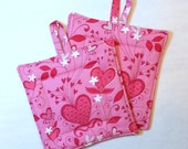 Pot Holder Set - Double Insulated - Growing Hearts