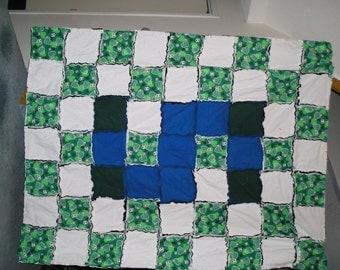 Soccer Flannel Rag Blanket