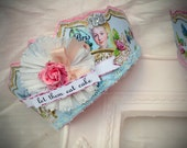 Marie Antoinette Shabby Chic tiara, party hat, birthday parties, showers, costumes, weddings, brides, photos, props