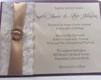 Simple Luxury --- Couture Wedding Invitation